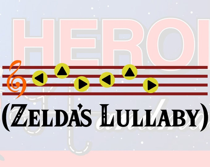 """4""""+ Legend of Zelda Ocarina of Time Ocarina Music - Choose Your Favorite Song! Adhesive Vinyl Decal"""