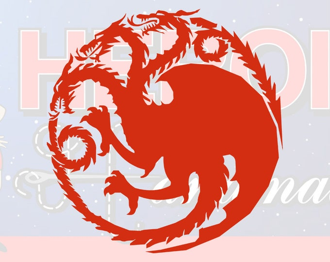 "4""+ Game of Thrones Targaryen Adhesive Vinyl Decal"