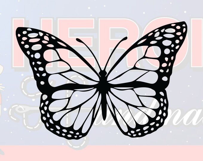 """4""""+ Monarch Butterfly Adhesive Vinyl Decal"""