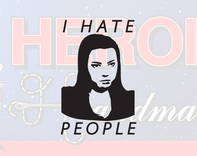 """4""""+ Parks and Recreation April Ludgate I Hate People Adhesive Vinyl Decal"""
