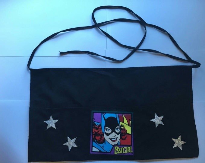 Batgirl apron, perfect for servers, crafters, handy folk and more!