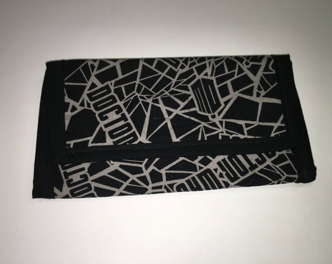 Dr Who fabric large cotton wallet