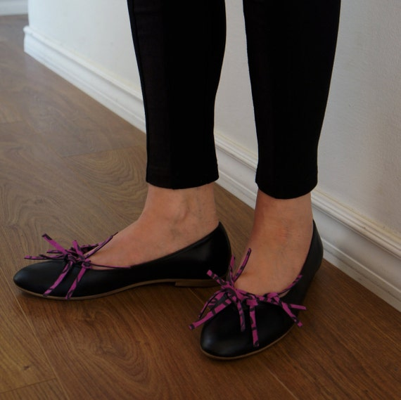 fringe flat handmade with shoes Black leather t0qwnC