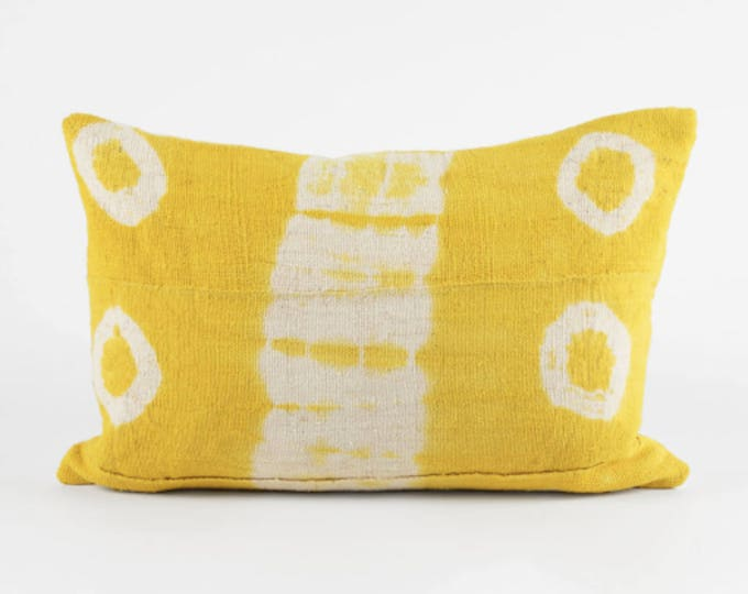 Mud Cloth, Pillow Cover Yellow Mud Cloth Pillow Cover, 12x24, 20x20,n 18x12