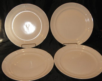Vintage Sonnet Fine Stoneware Japan China Set of 4 Dinner Plates