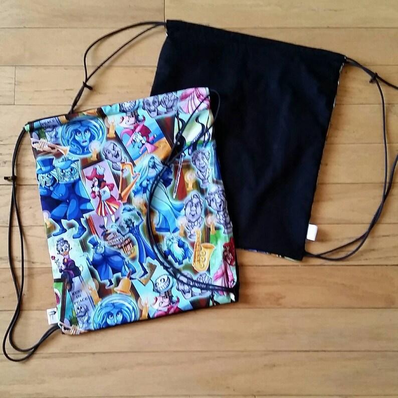 0c829498dde Haunted drawstring backpack Disney Haunted Mansion inspired