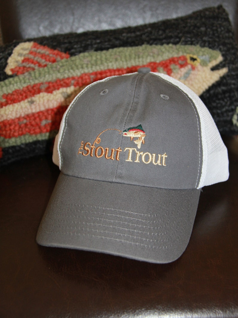 b19d77494ad6a The Stout Trout Fishing Cap Rainbow Trout Trout Hat Fishing