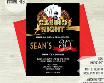 Casino invitation etsy casino night invitation casino invitation casino party invitation casino birthday invitation las vegas invitation digital printable stopboris Gallery