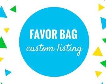 Custom Favor Bag