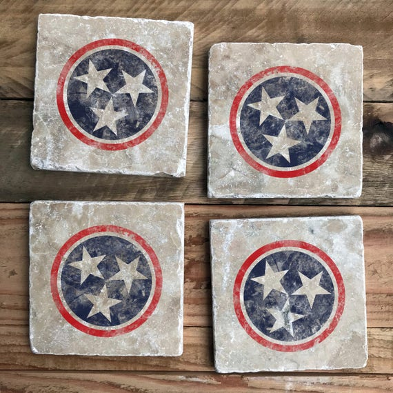 TriStar Nashville Coasters Red White And Blue Star