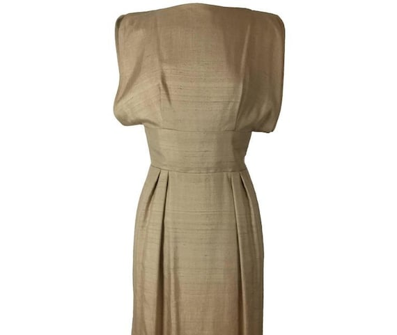 Geoffrey Beene for Teal Traina Raw Silk Dress.  Ea