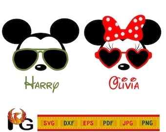 c0b234dfb870 Mickey Sunglasses Svg Cut File for Cricut Cuttable Silhouette Disney Clip  art Baby