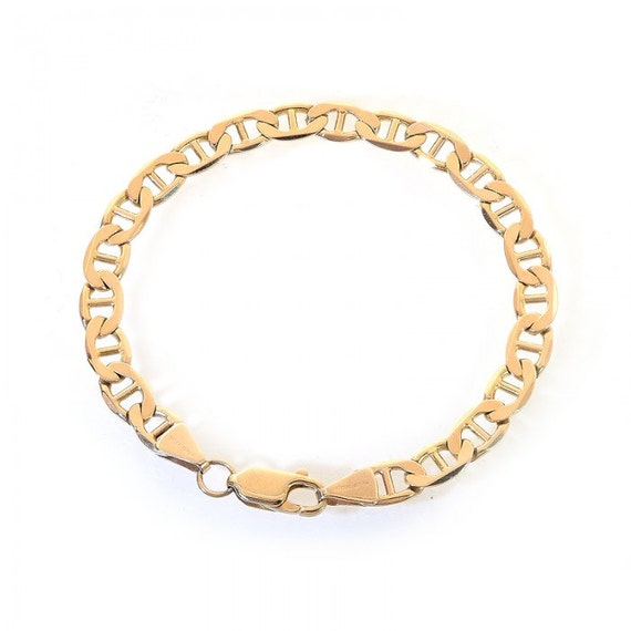 88a5dcc6a7f5a 6.2mm 14K Yellow Gold Marine Curb Gucci Link Chain Bracelet
