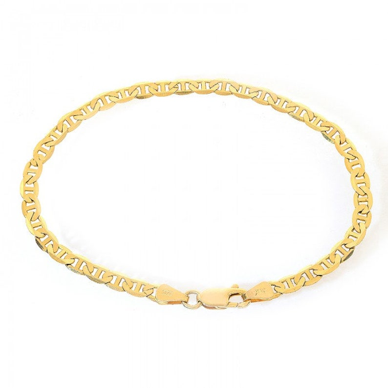 1095341c7b049 4.1mm 14K Yellow Gold Marine Curbe Gucci Link Chain Bracelet