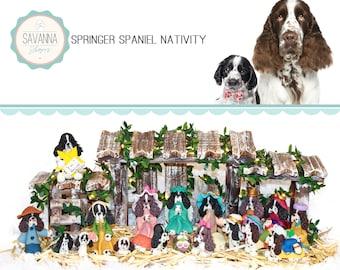 Dog Nativity, Springer Spaniel, Nativity sets