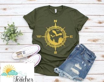ae863240aca Compass Adventure Shirt | Birds in Flight | Outdoor Enthusiast Shirt
