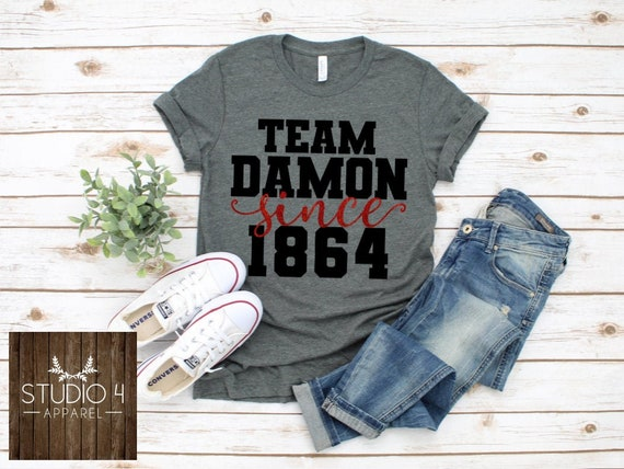 Vampire Diaries Team Salvatore Shirt Team Damon Salvatore Etsy