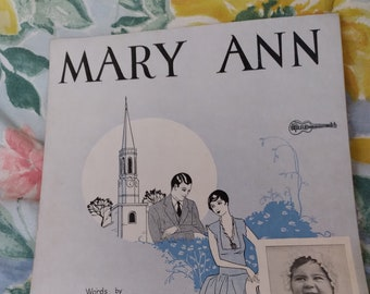 LAST CHANCE SALE! 1927 Mary Ann Sheet Music Arrangement for Ukulele