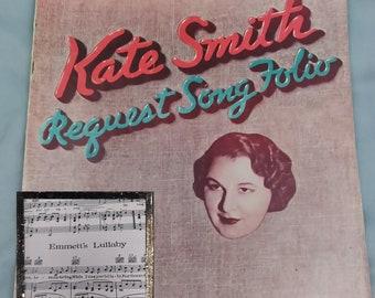 LAST CHANCE SALE! 1939 Kate Smith Songbook Request Folio - Piano/Vocal - Beautiful Dreamer & more!