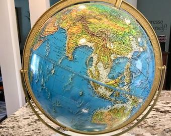 Cram Enviro-Sphere Tabletop Globe//World Globe//Rotating Globe//Vintage Cram Globe