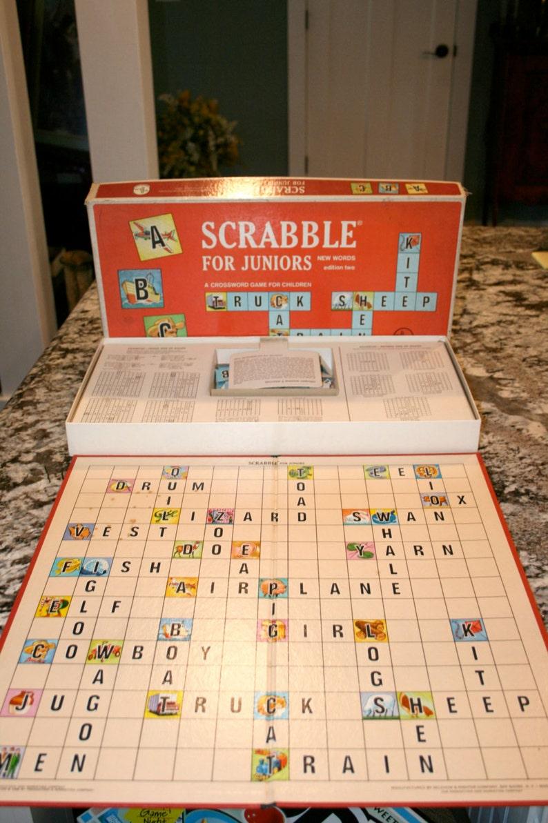 1964 Scrabble For Juniorswydanie Dwagra Krzyżówka Dla Dziecirocznika Gra Planszowa