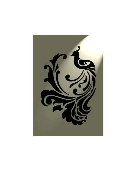 Plantilla de Damasco Shabby Chic Estilo Rústico de Mylar de A4 297x210mm 5A francés de pared de diseño