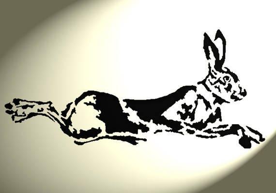 Shabby Chic de la plantilla Liebre 2 Tamaños Conejo Rústico A4 297x210mm Pared Muebles