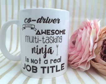 Co-driver mug, Motorsport, codriver, multitasking, job mug