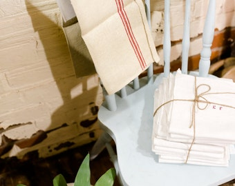 French linen tea towel
