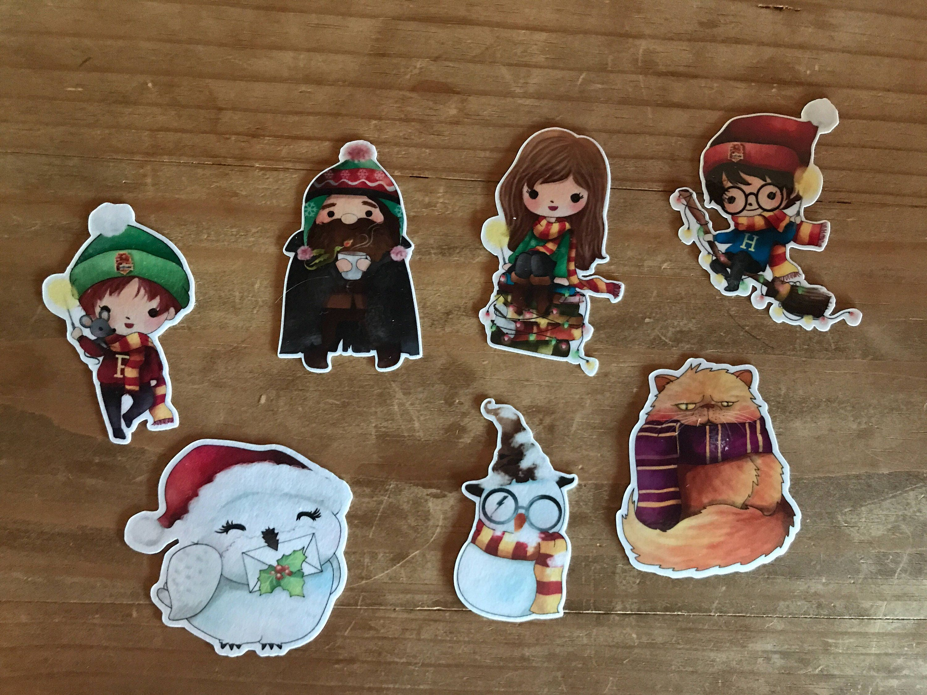Harry Potter winter Christmas die cuts. themed die cuts to | Etsy