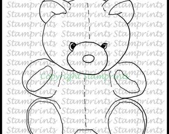 Teddy Bear (TLS-1804) Digital Stamp. Cardmaking.Scrapbooking.MixedMedia.