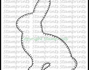 Felt Bunny (TLS-1725) Digital Stamp. Cardmaking.Scrapbooking.MixedMedia.