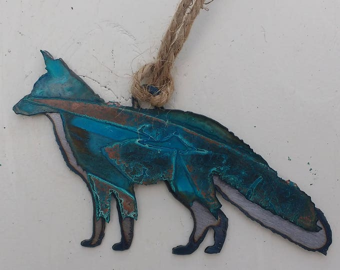 Patina Fox Ornament
