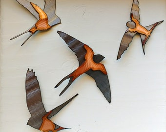 Swallow Wall Art Set