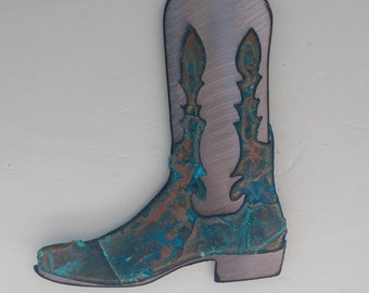 Patina Cowboy Boot Ornament