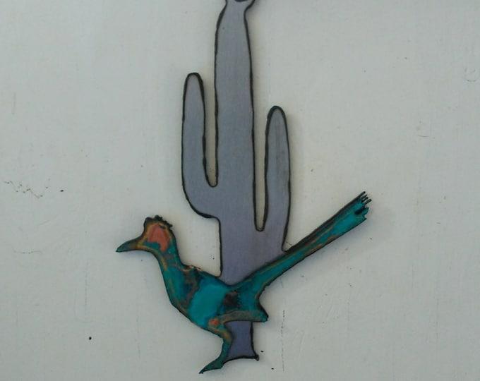 Patina Road Runner Saguaro Ornament
