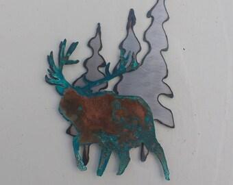 Patina Elk Magnet