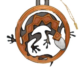 Copper Lizard Ornament