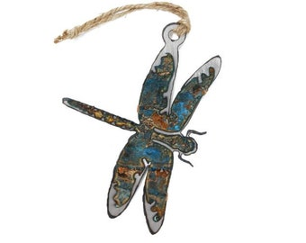 Patina Dragonfly Ornament