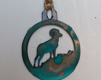 Patina Big Horn Sheep Ornament