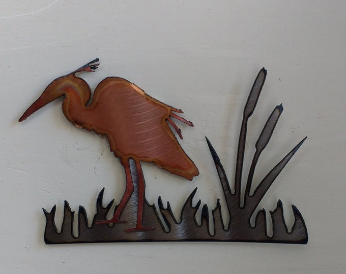 Heron In the Reeds Mini Sculpture