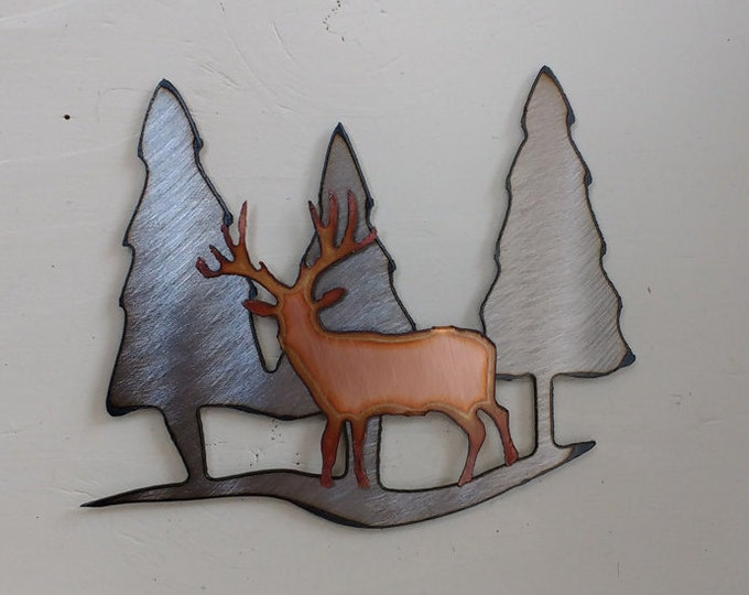 Stag In the Forest Mini Sculpture