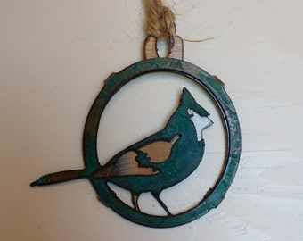 Patina Cardinal Ornament