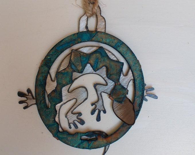 Patina Lizard Ornament