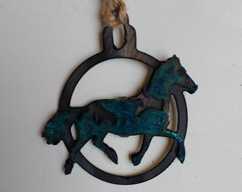 Patina Horse Ornament