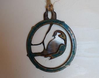 Patina Warbler Ornament