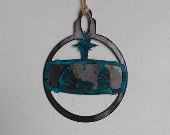 Patina Nativity Ornament