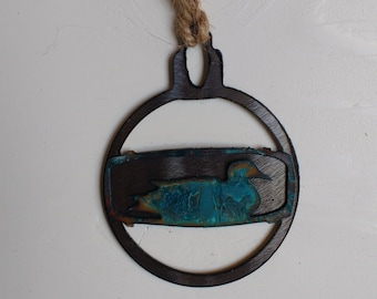 Patina Duck Ornament