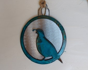 Patina Quail Ornament
