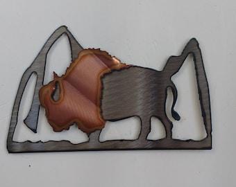 Buffalo on the Plains Mini Sculpture